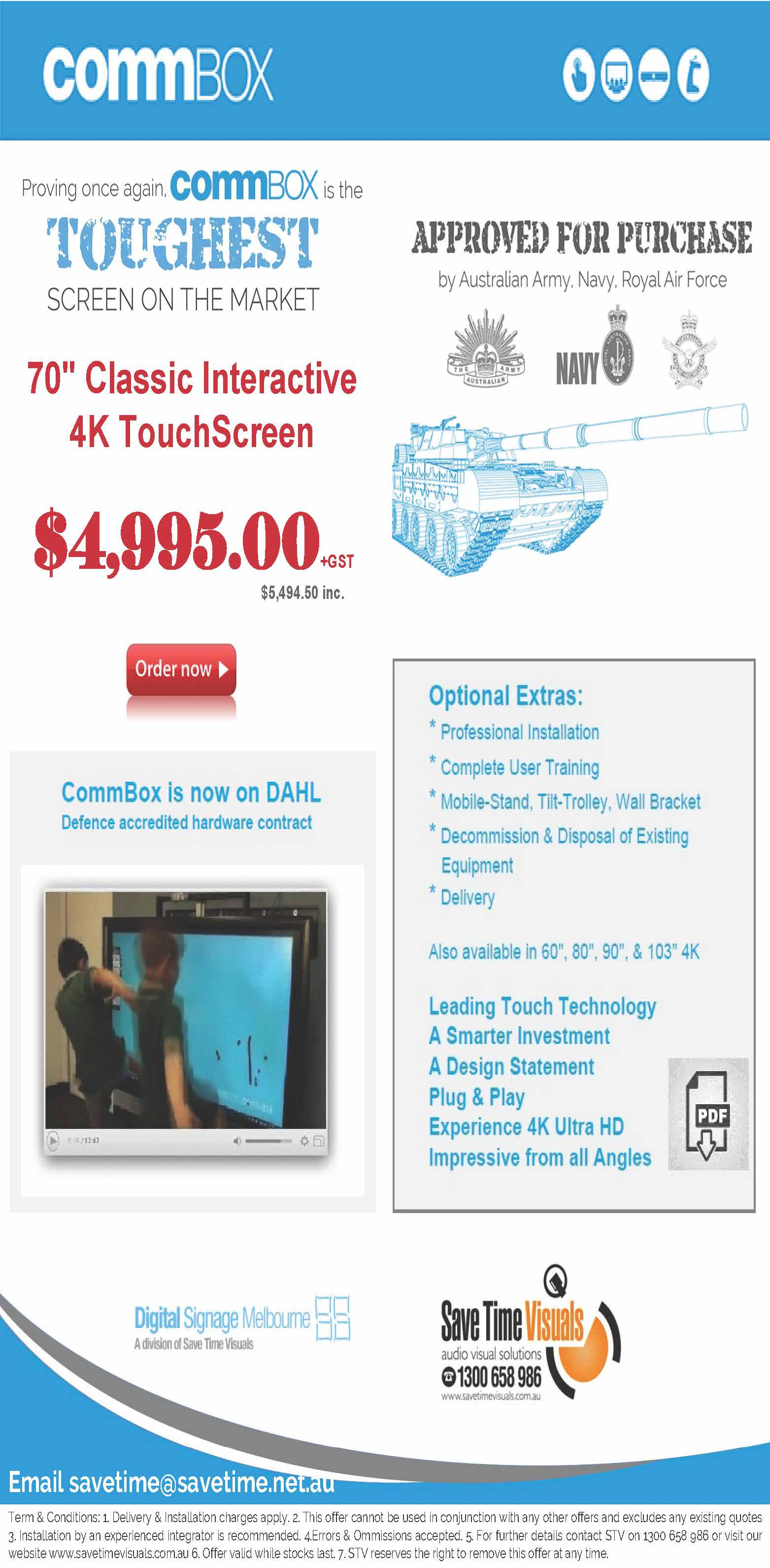 Commbox Touch Screen